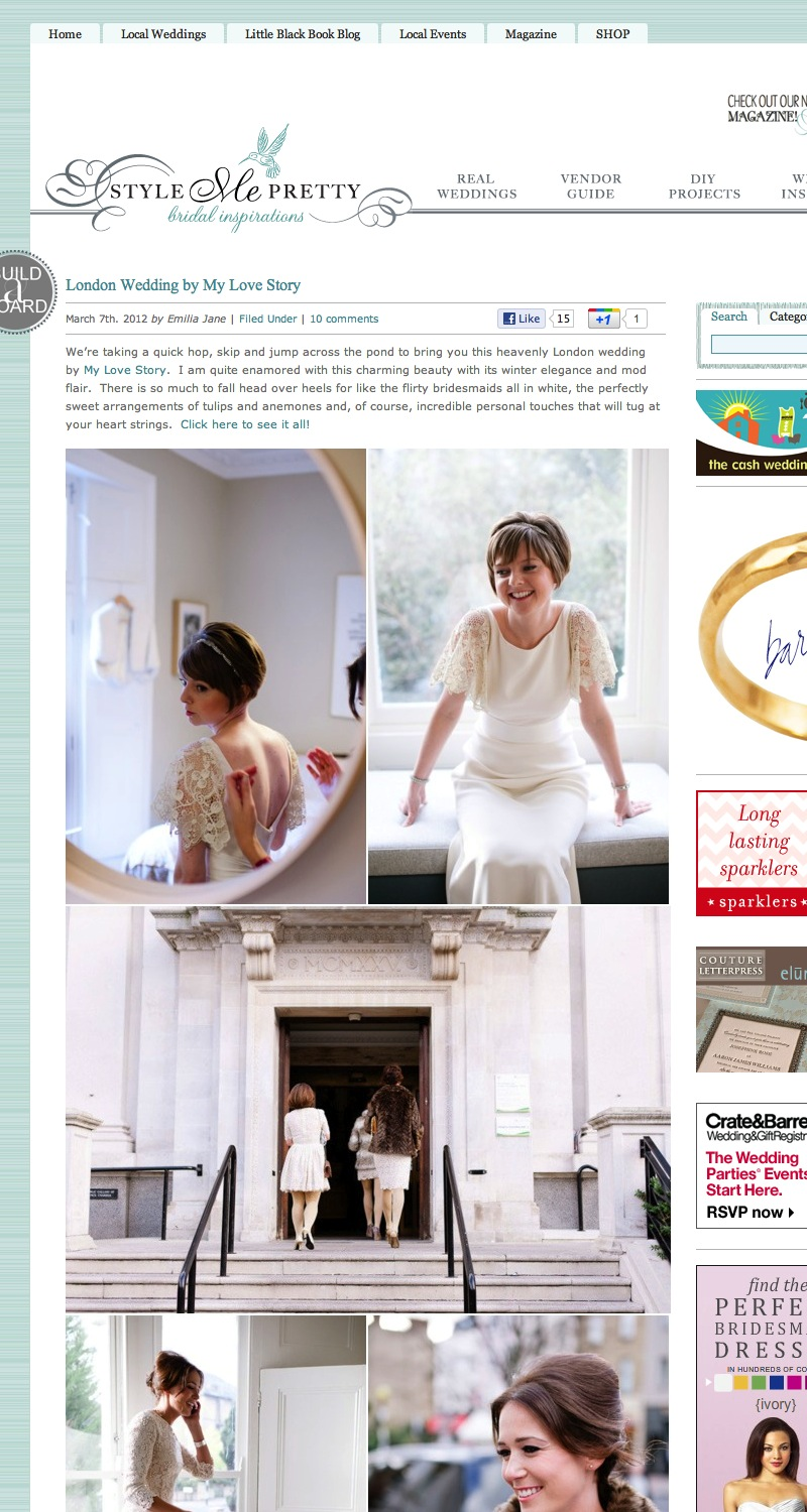 Style Me Pretty Wedding Blog Feature
