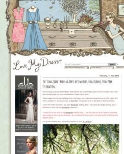 Love my dress wedding blog feature