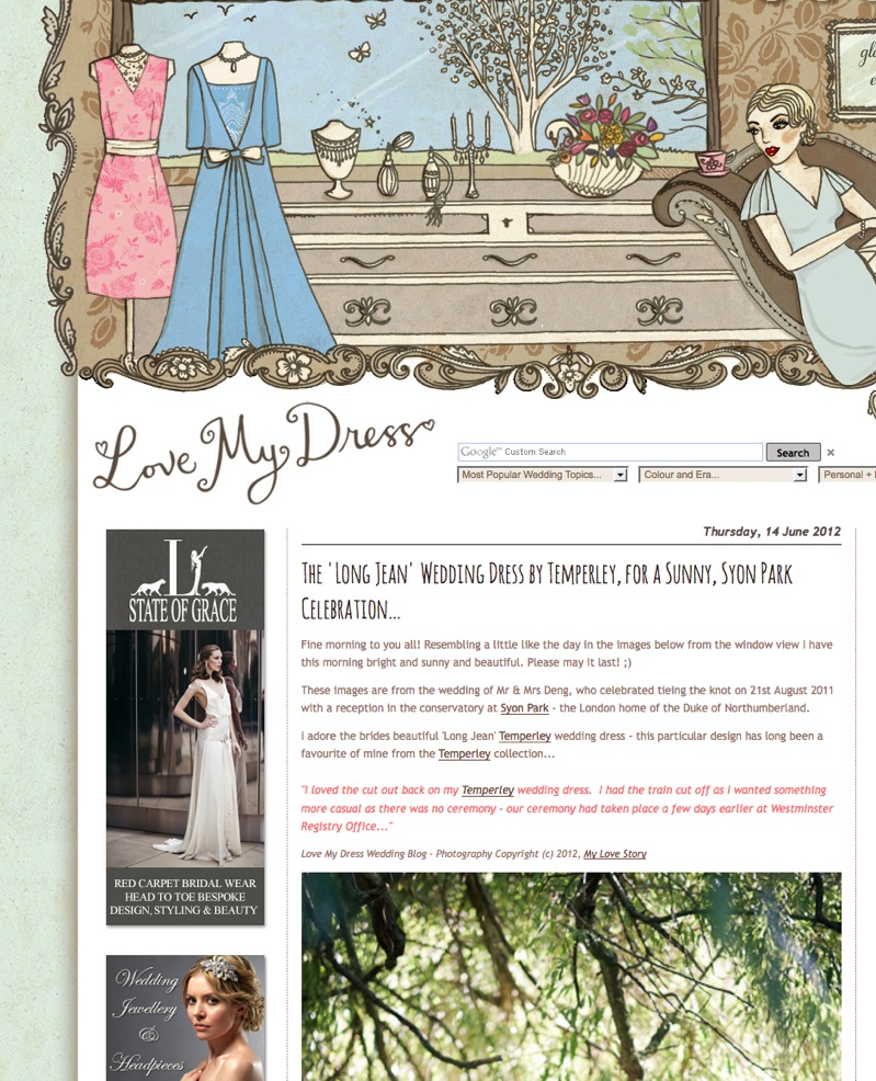 Love my dress wedding blog feature