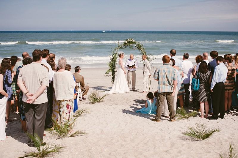 Beach Wedding Wilmington North Carolina Usa_